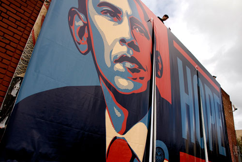 Shepard Fairey's Hope/Elysian Park Obama Billboard