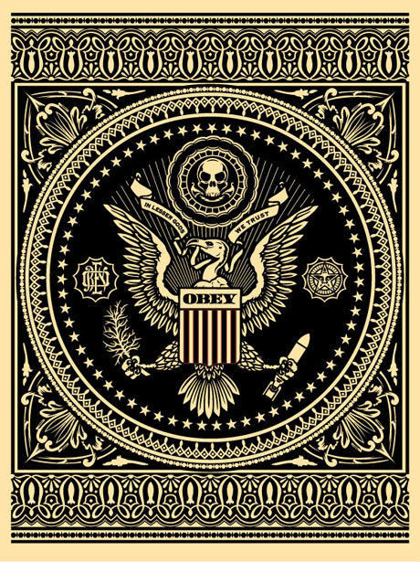 Presidential Seal (Black) | OBEY GIANT