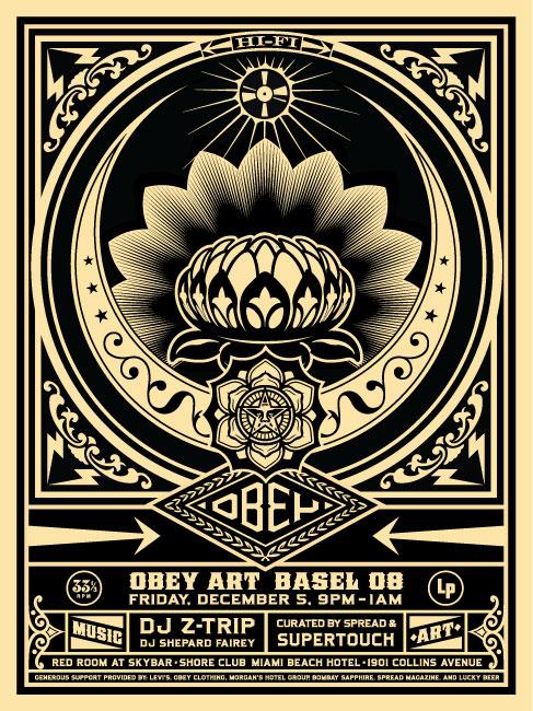 Obey Flower Design