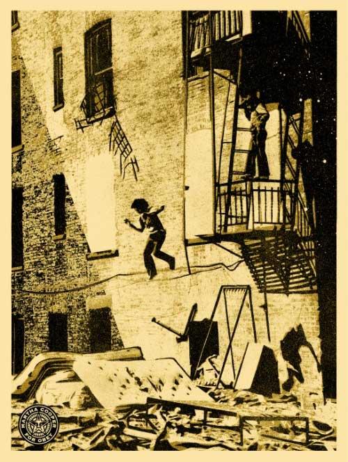 Shepard Fairey - Leap of Faith