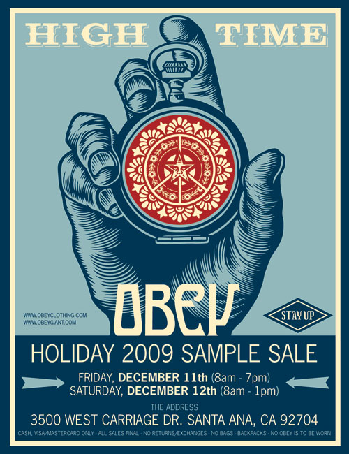 Obey Clothing Holiday sample sale 2009 - FRONT