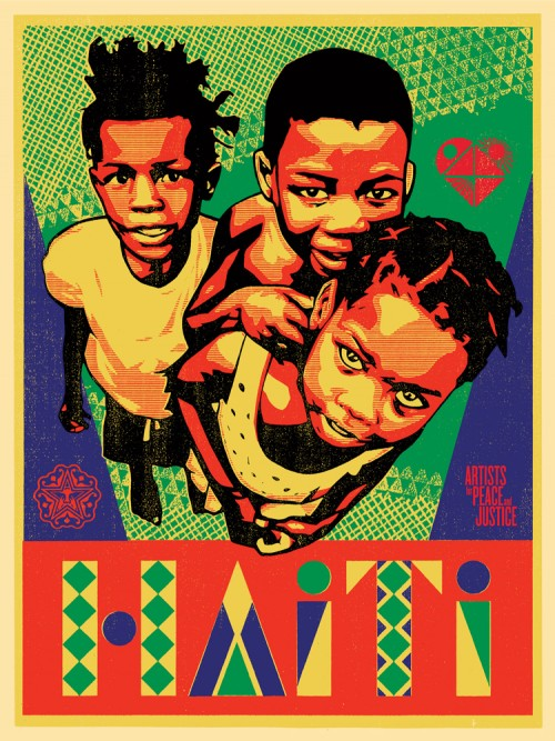 Obey Giant Relief for Haiti Print