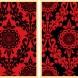 Parlor Pattern Red/Black Set