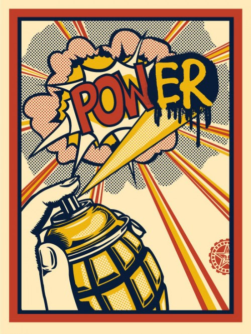 Pow er print obey giant for Poster roy lichtenstein