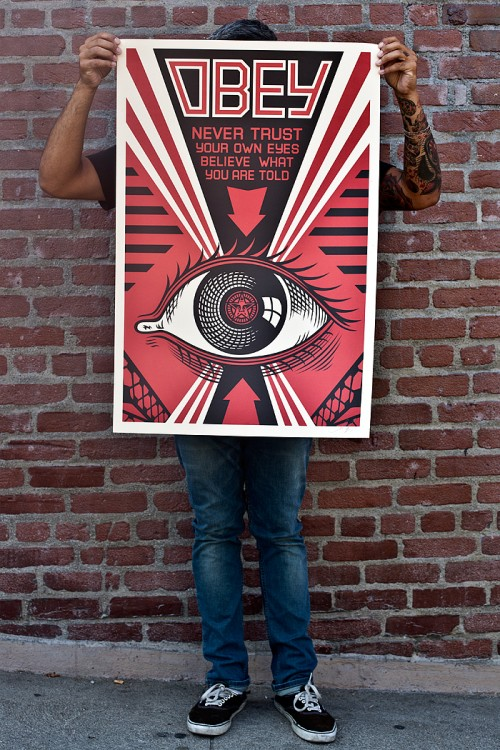 obey eye offset poster obey giant store. Black Bedroom Furniture Sets. Home Design Ideas