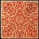 Japanese-Fabric-Monogram-Red