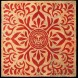 Japanese-Fabric-Star-Pattern-Inverse-Red
