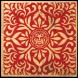 Japanese-Fabric-Star-Pattern-Red