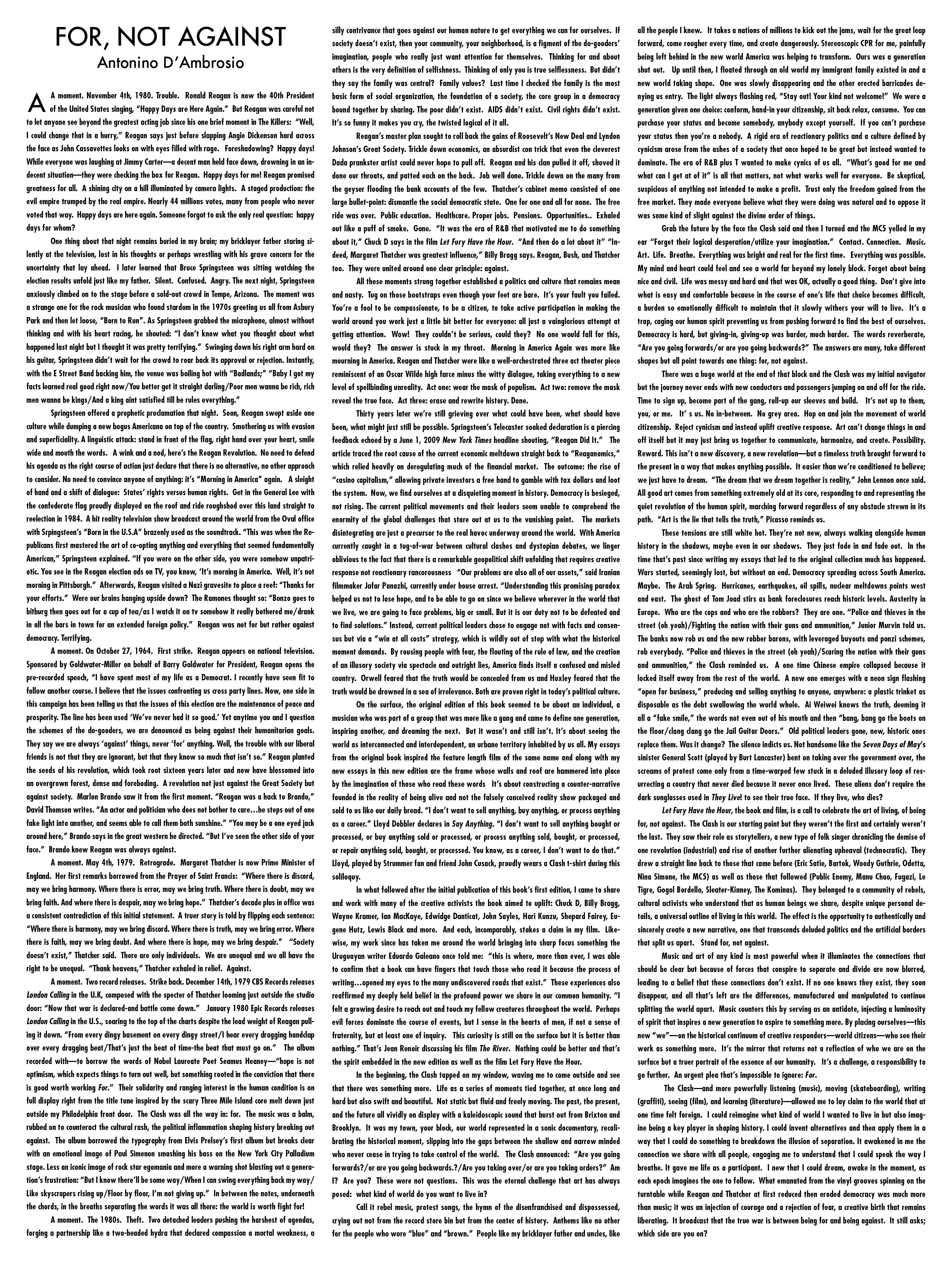 Punks rebellion lyrics essays