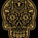 Power & Glory Day of the Dead Skull (Gold)
