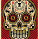Power & Glory Day of the Dead Skull (Red)