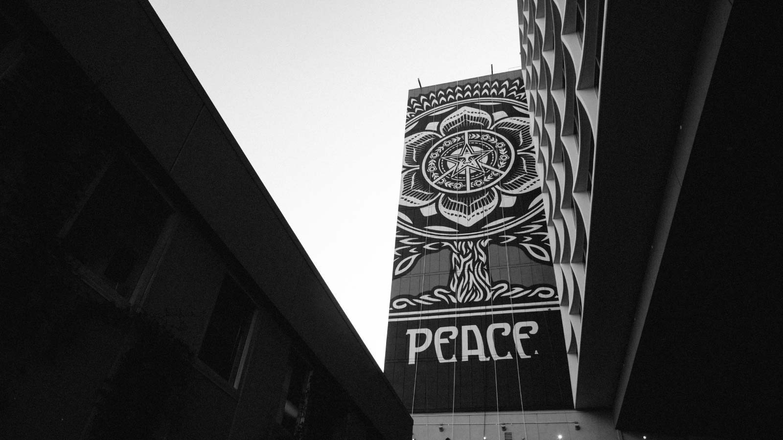 Image of mural by Shepard Fairey