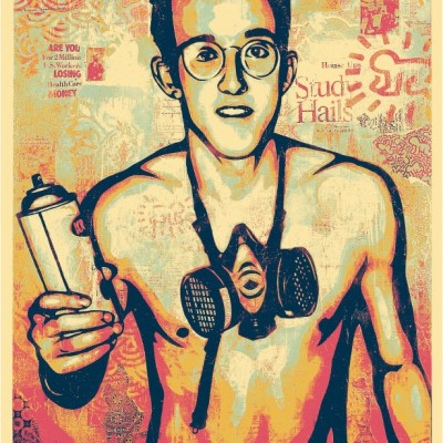 Haring-canvas-poster-2nd-color-way