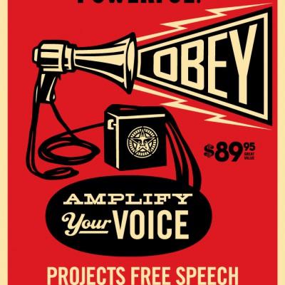 Obey-Megaphone-poster