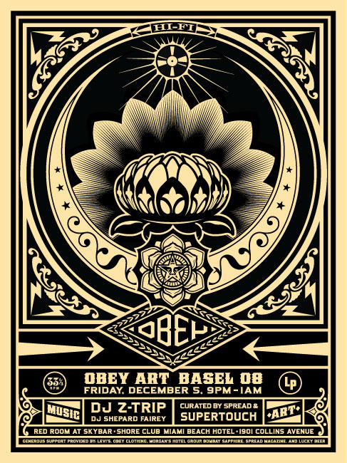 art basel 2008 obey giant. Black Bedroom Furniture Sets. Home Design Ideas