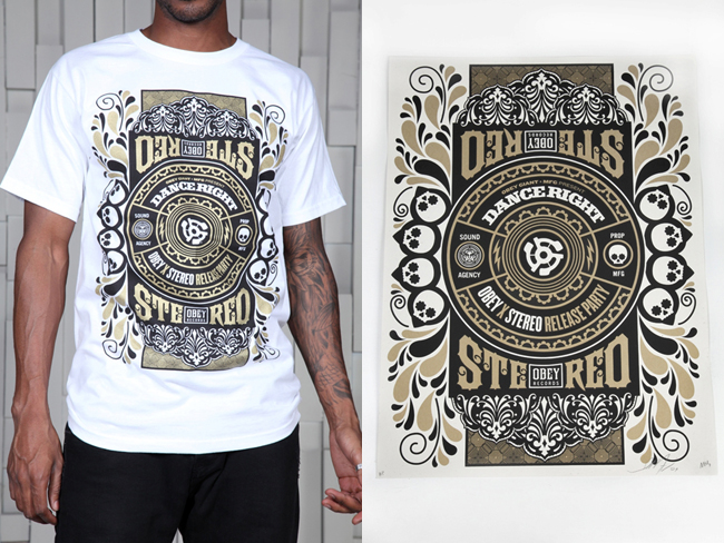 Obey Poster Stereo Shirt And Giant qUzMVSpG