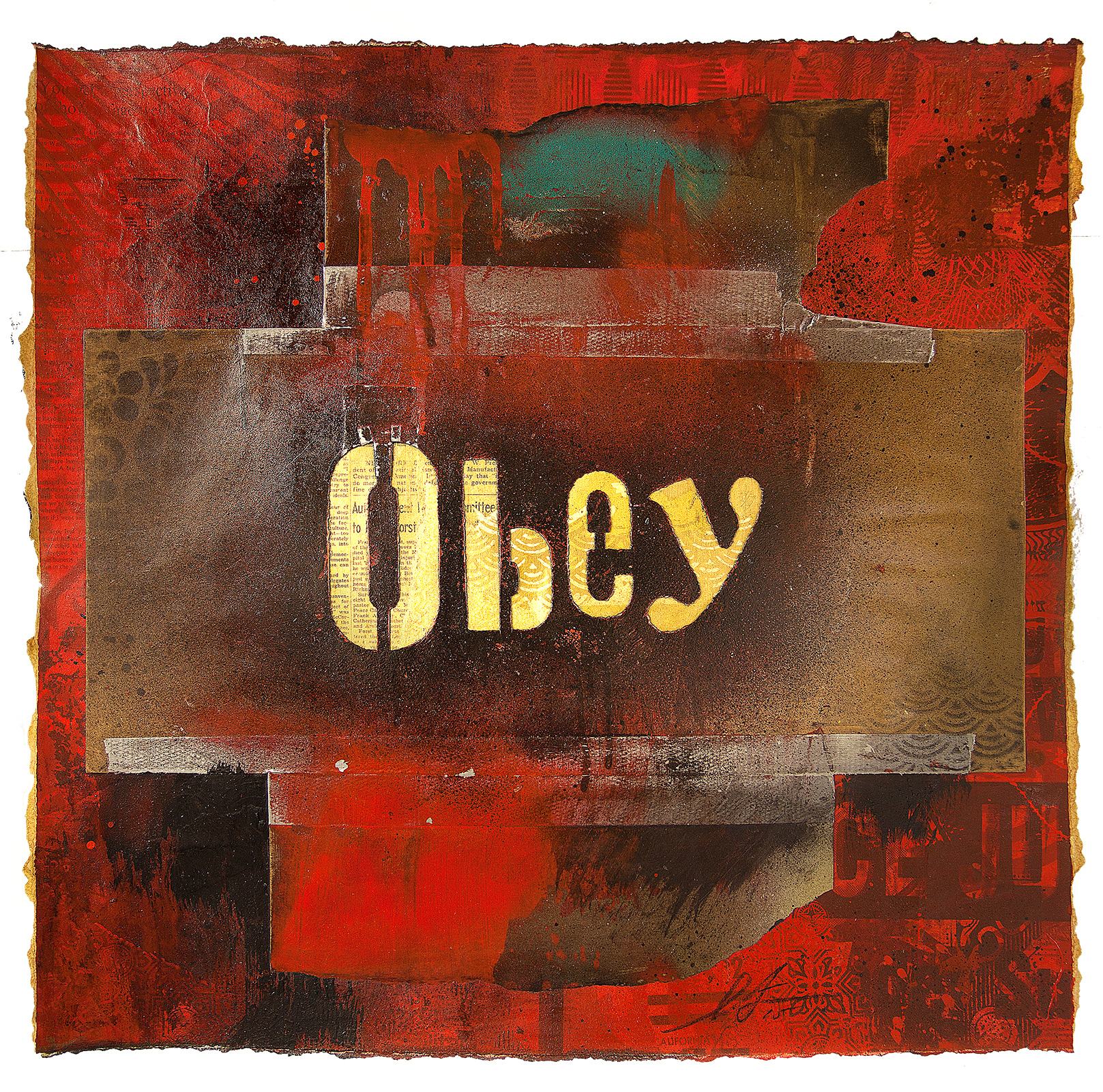 obey ransom type retired stencil obey giant. Black Bedroom Furniture Sets. Home Design Ideas