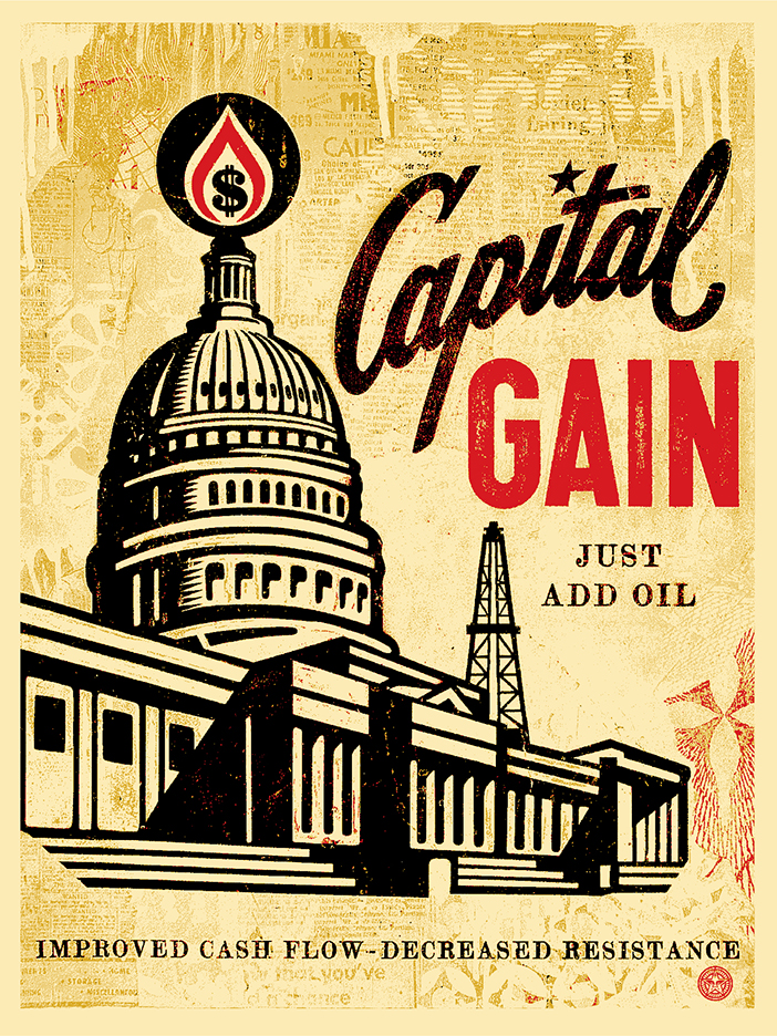 capital gain screen print